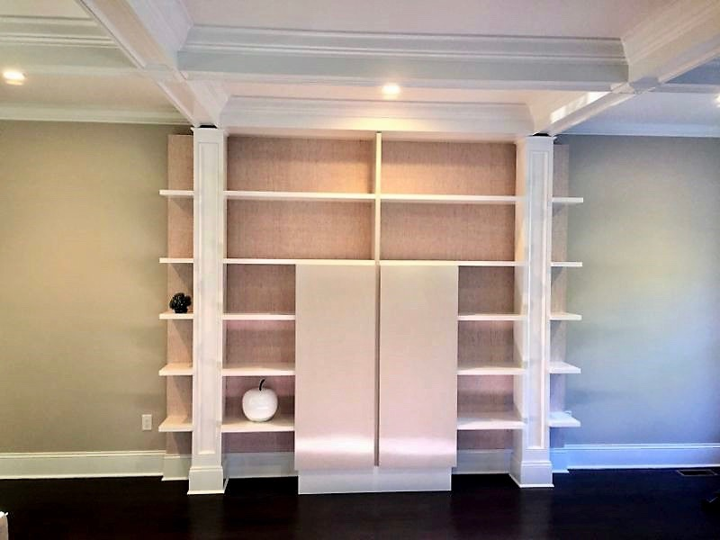 after madison samson ave interior Custom Built In Bookcase Living Room