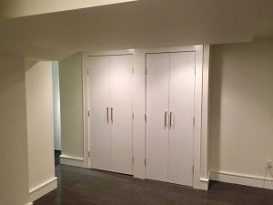 after madison woodland interior Dual Closets Outside of Gym