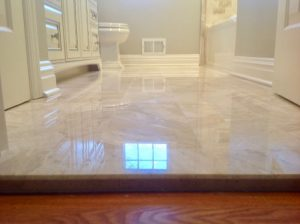 after pictures bathroom oak ridge summit Marble Saddle Tile Floor