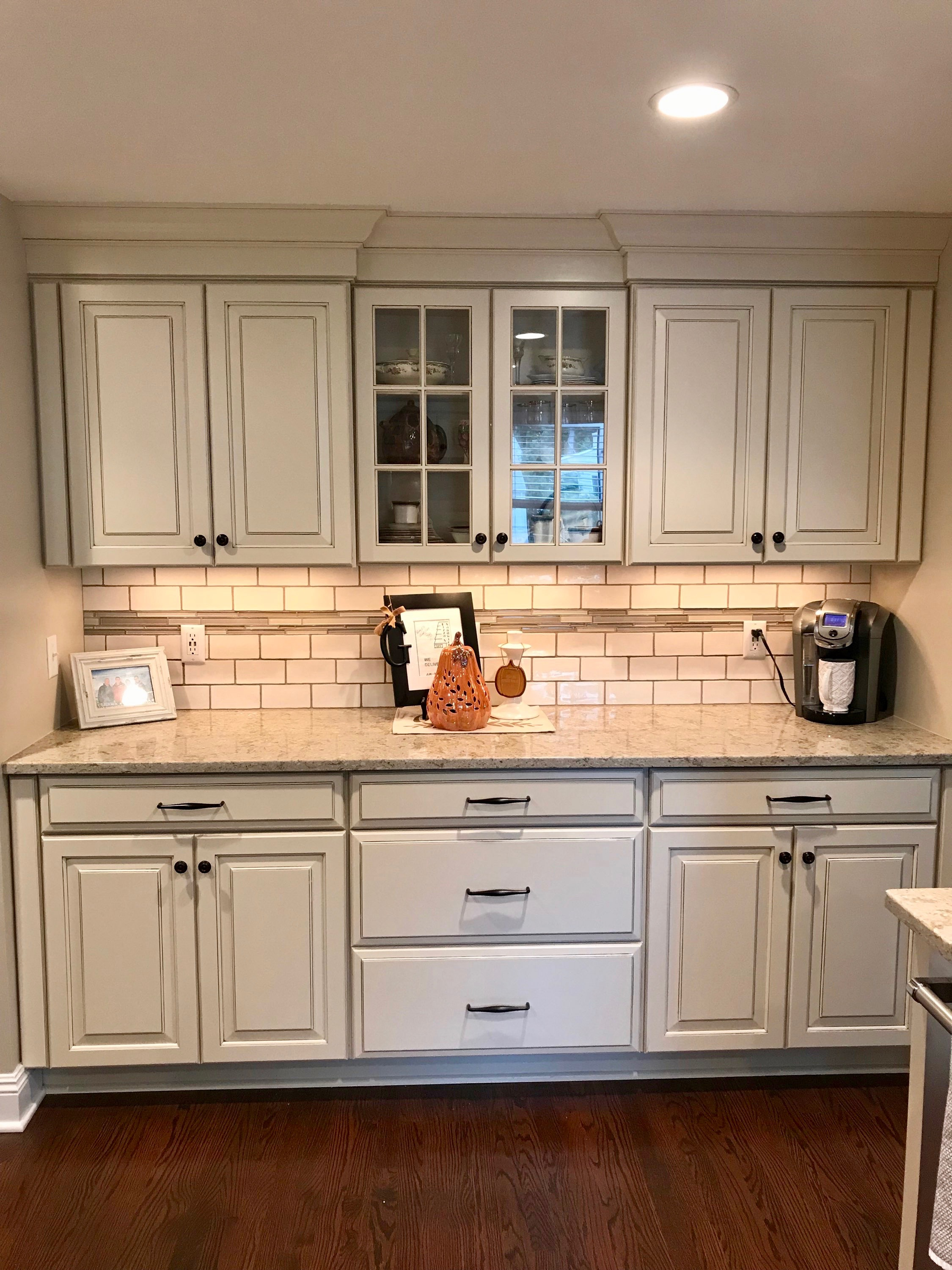 After Pictures West Orange Mayfair Kitchen Cabinet Bar Area