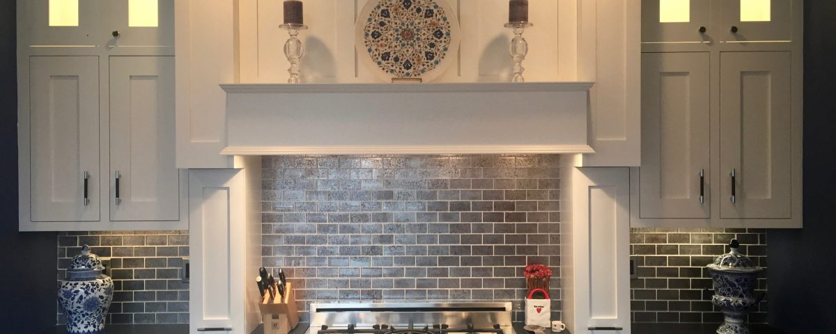after pine brook windsor kitchen Custom Hood with Built In Spice Racks