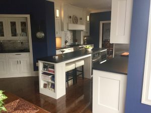 after pine brook windsor kitchen Kitchen Island with Black Leathered Countertop