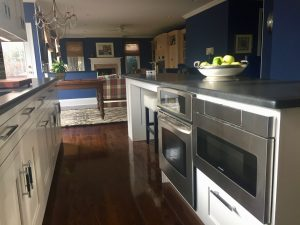 after pine brook windsor kitchen Kitchen Island with Stainless Steel Appliances
