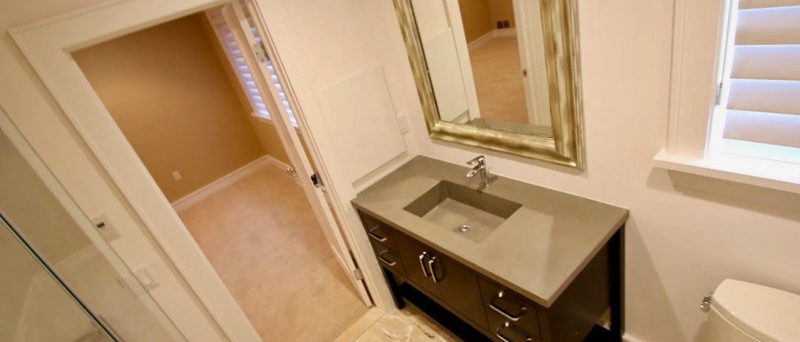 bathroom west orange 1 Concrete Vanity Countertop