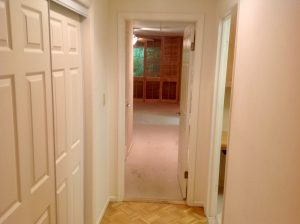 interior west orange 1 Master Bedroom Hallway Before