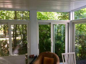 montclair macopin exterior Porch Enclosure Tempered Glass After