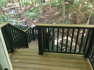 montclair macopin exterior Trex Deck After with Black Handrail