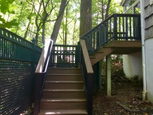 montclair macopin exterior Trex Staircase After