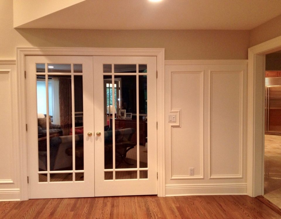 tenafly nj Custom Moulding French Office Doors Wainscoating
